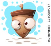 cute  crazy nuts   cartoon... | Shutterstock .eps vector #1360059767