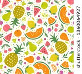 cloroful vector pattern with... | Shutterstock .eps vector #1360064927