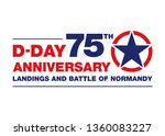 logo for the 75th anniversary... | Shutterstock .eps vector #1360083227