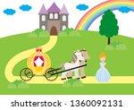 a children's style illustration ...   Shutterstock .eps vector #1360092131