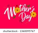 happy mother s day elegant... | Shutterstock .eps vector #1360095767