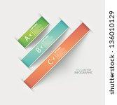 modern origami ribbon style... | Shutterstock .eps vector #136010129