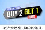 buy 2  get 1 free. special...   Shutterstock .eps vector #1360104881