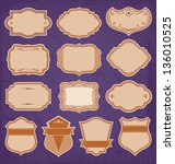 vintage frame labels set vector | Shutterstock .eps vector #136010525
