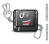 Two Finger Cartoon F2 Button O...