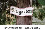 Biergarten Sign In Germany