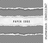 set of torn paper stripes.... | Shutterstock . vector #1360111367