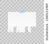 white advertisement tear off... | Shutterstock . vector #1360111484