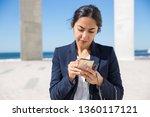focused office assistant... | Shutterstock . vector #1360117121