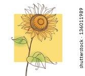 Stylized Sunflower