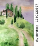 hand drawn original painting... | Shutterstock . vector #1360120937