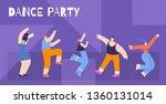 motivation flat horizontal card ... | Shutterstock .eps vector #1360131014