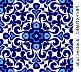 talavera pattern. azulejos... | Shutterstock . vector #1360134584