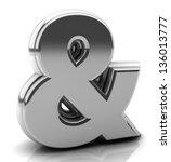 render silver ampersand symbol... | Shutterstock . vector #136013777