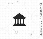 court building  bank  vector... | Shutterstock .eps vector #1360138184