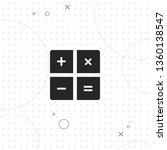 calculator  vector best flat... | Shutterstock .eps vector #1360138547