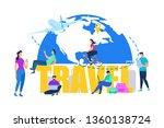 touristic travel  summer... | Shutterstock .eps vector #1360138724