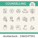 counselling line icon set. psi... | Shutterstock .eps vector #1360147541