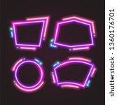 purple trendy neon banner.... | Shutterstock .eps vector #1360176701