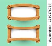 vector of wood banner design.... | Shutterstock .eps vector #1360176794