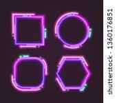 geometry trendy neon banner set ... | Shutterstock .eps vector #1360176851