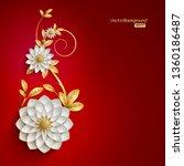 3d white and golden arabesque...   Shutterstock .eps vector #1360186487