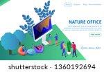 nature office horizontal banner ... | Shutterstock .eps vector #1360192694