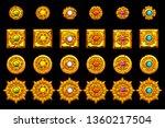 vector maya icons. american...