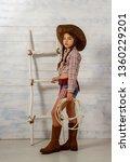 little girl in a wide brimmed... | Shutterstock . vector #1360229201