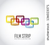Постер, плакат: film stripe over gray