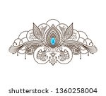 vector henna tattoo under the... | Shutterstock .eps vector #1360258004