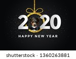 Happy New Year 2020 With A Dog...