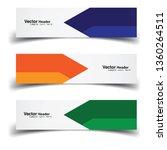 vector abstract banner design... | Shutterstock .eps vector #1360264511