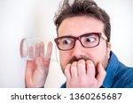 man portrait listening and... | Shutterstock . vector #1360265687