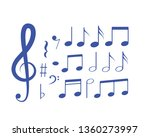 music note icon vector | Shutterstock .eps vector #1360273997