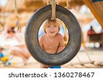 cute  excited  blond haired... | Shutterstock . vector #1360278467