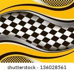 Vector Checkered Racing Flag...