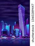 modern metropolis night... | Shutterstock .eps vector #1360289447