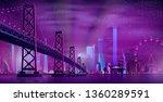 vector big hinged bridge to... | Shutterstock .eps vector #1360289591