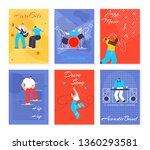 music people festival cards set.... | Shutterstock .eps vector #1360293581
