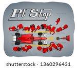 formula race car in pit stop...   Shutterstock .eps vector #1360296431
