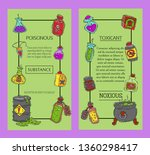 toxic industry concept banners... | Shutterstock .eps vector #1360298417
