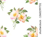 floral watercolor seamless... | Shutterstock . vector #1360299731