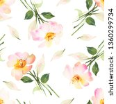 floral watercolor seamless... | Shutterstock . vector #1360299734