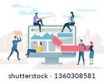little people move at huge... | Shutterstock .eps vector #1360308581
