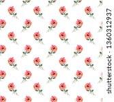 watercolour seamless pattern... | Shutterstock . vector #1360312937