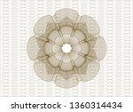 brown passport money rosette | Shutterstock .eps vector #1360314434