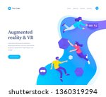 augmented reality concept ... | Shutterstock .eps vector #1360319294