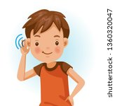 boy listening.  positive... | Shutterstock .eps vector #1360320047