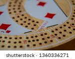 cribbage board close up macro... | Shutterstock . vector #1360336271